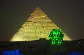 Giza Pyramids Sound and Light Show from Cairo Airport